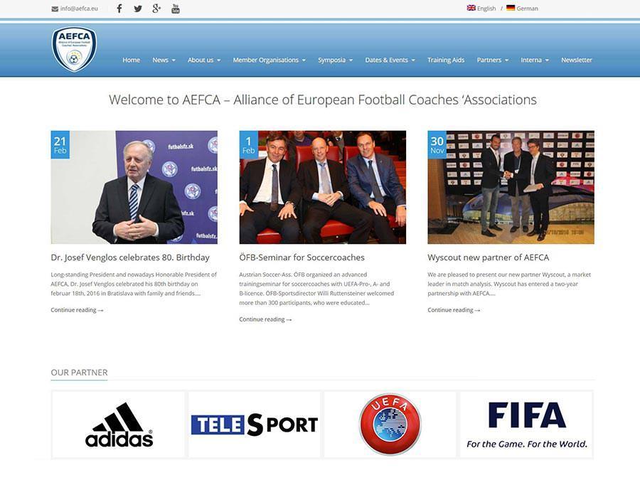 AEFCA FIFA UEFA Webseite