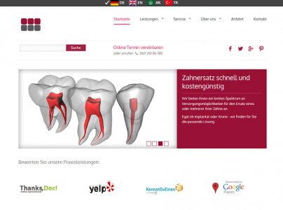 Webseiten für Zahnärzte